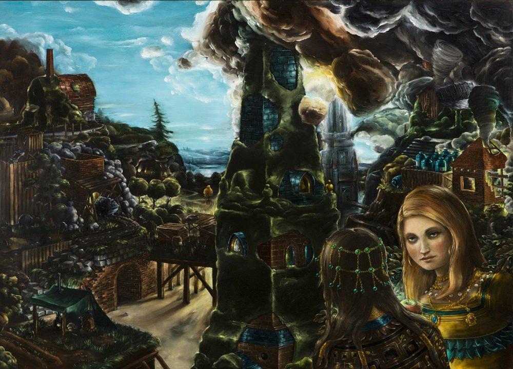 Wilhelm von Kröckert  Omstart  2014-15 Oil on panel 92 x 125 cm