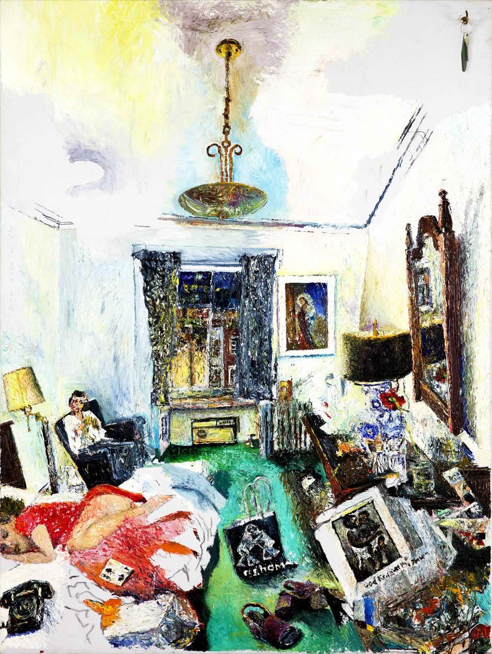 Malcolm Morley   Room at Chelsea/Chelsea Hotel  1972 Oil on canvas 122 x 90 cm