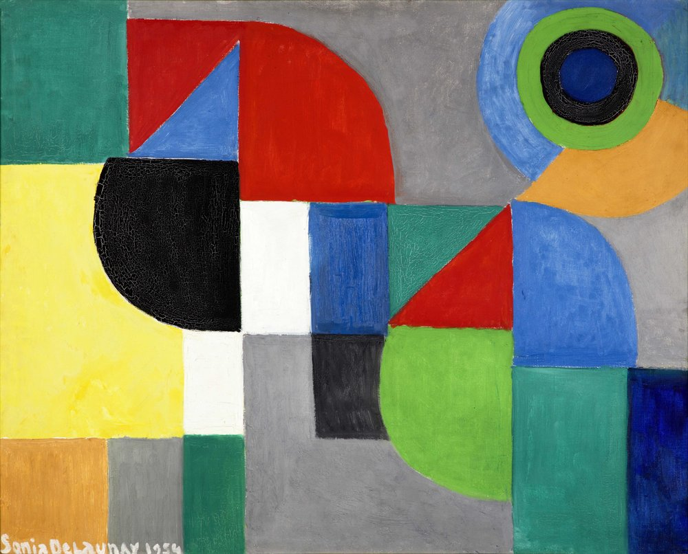 Sonia Delaunay   Composition  1954 Oil on canvas 82 x 100 cm