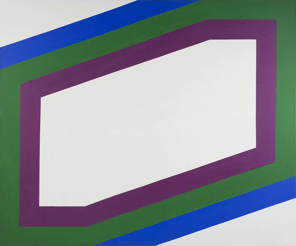 Imre Bak   Stripes II  1967 Acrylic on canvas 150 x 180 cm