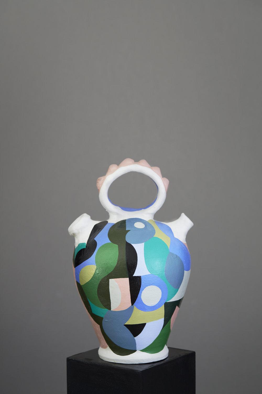 Liselotte Watkins   Hera  2016 Painted Terracotta 30 x 18 cm