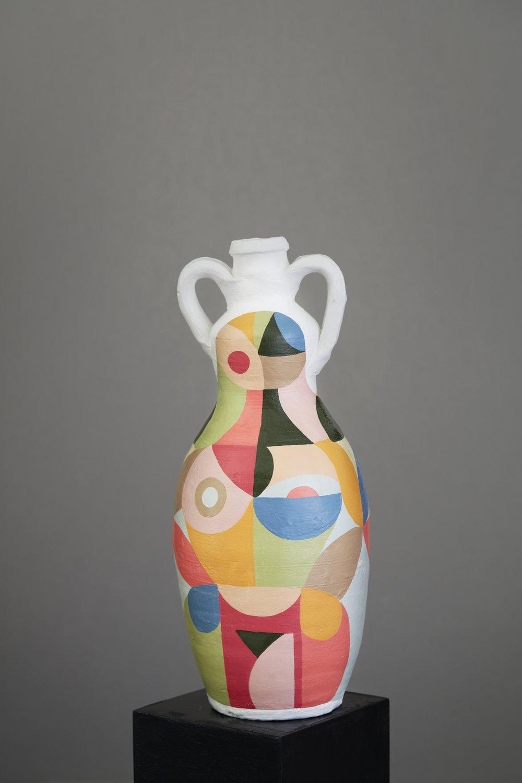 Liselotte Watkins   Palermo  2016 Painted Terracotta 35 x 15 cm