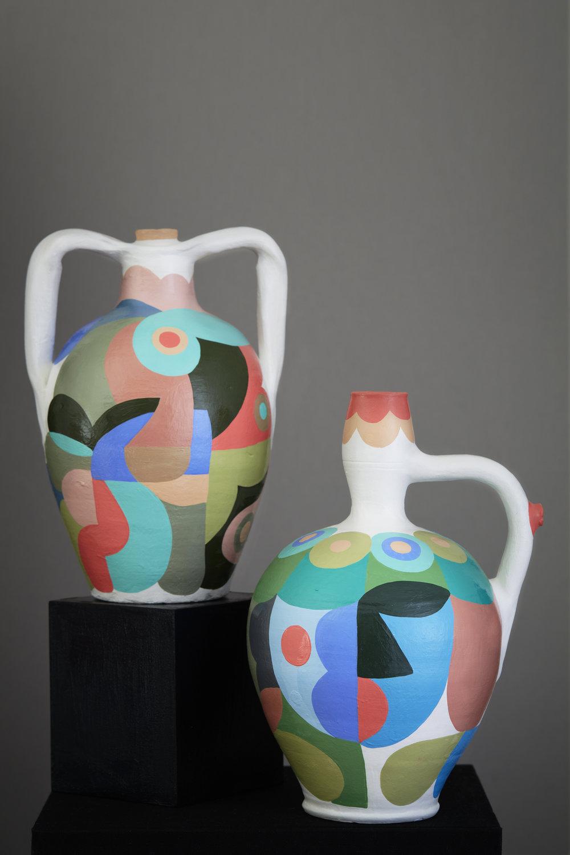 Liselotte Watkins   Toscana  2016 Painted Terracotta 32 x 24 cm   Liselotte Watkins   Sophia  2016 Painted Terracotta 35 x 20 cm