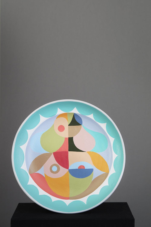 Liselotte Watkins   Cielo  2016 Painted Terracotta 35 x 5 cm