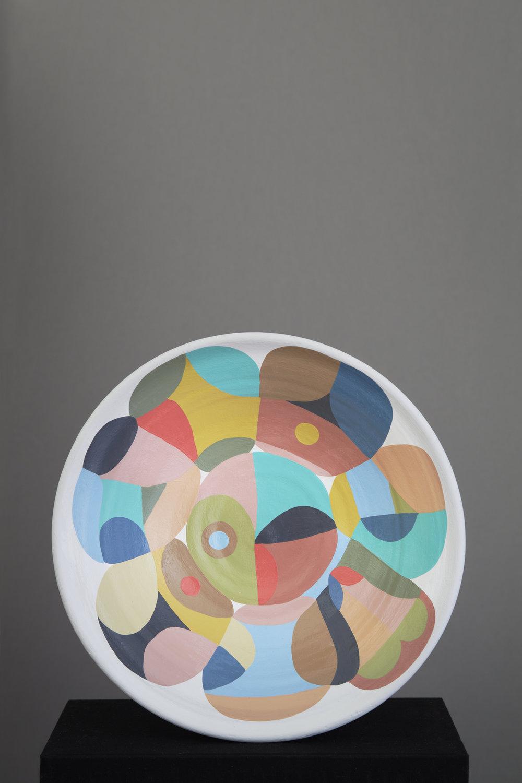 Liselotte Watkins   Liguria  2016 Painted Terracotta 36 x 10 cm