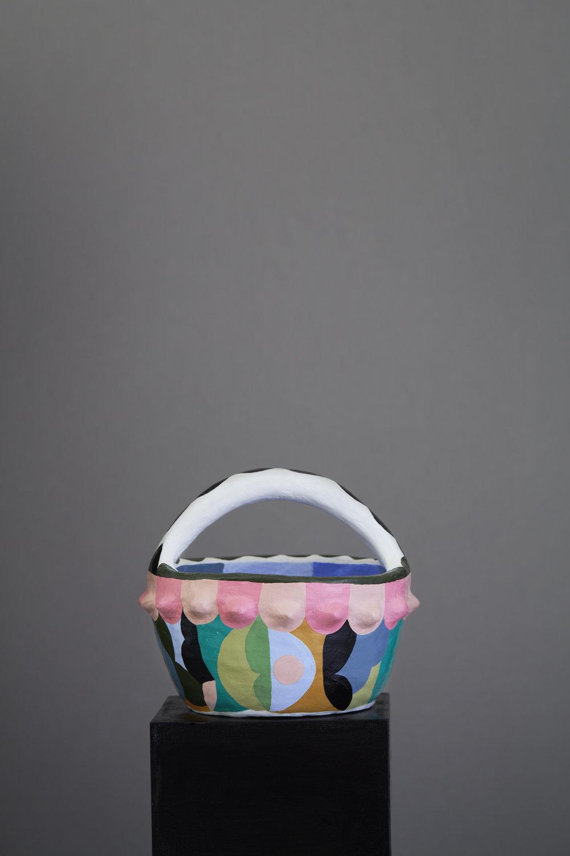 Liselotte Watkins   Roma  2016 Painted Terracotta 22 x 22 cm