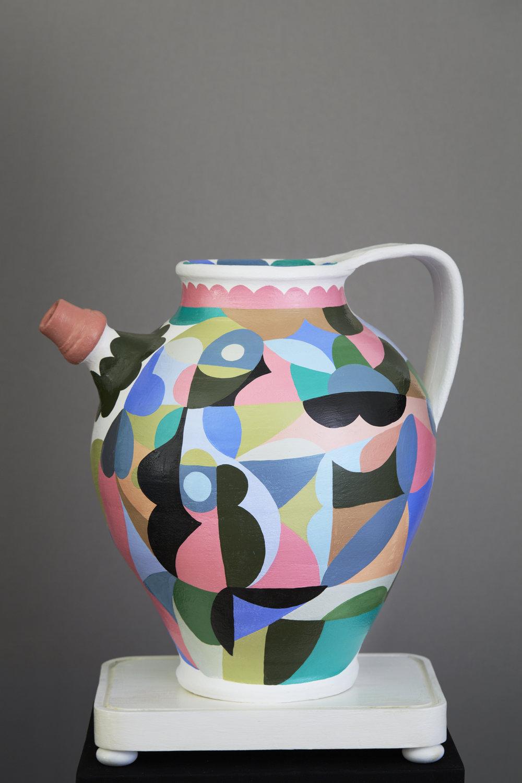 Liselotte Watkins   Paola  2016 Painted Terracotta 44 x 40 cm