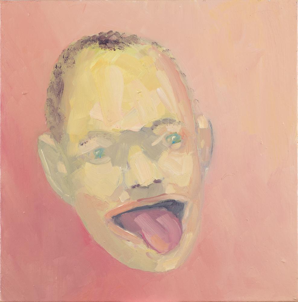 Steve Locke   The Bigot  2013 Oil on canvas 25,4 x 25,4 cm