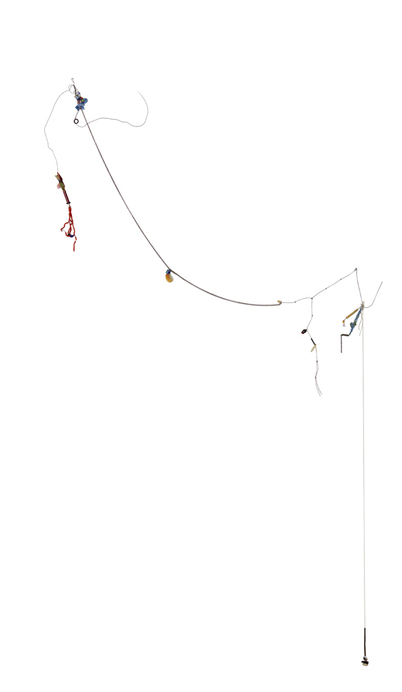 Nayland Blake   Untitled  2004 Glass beads, sequins, wire, string, chain and wood 158 x 78 x 10 cm