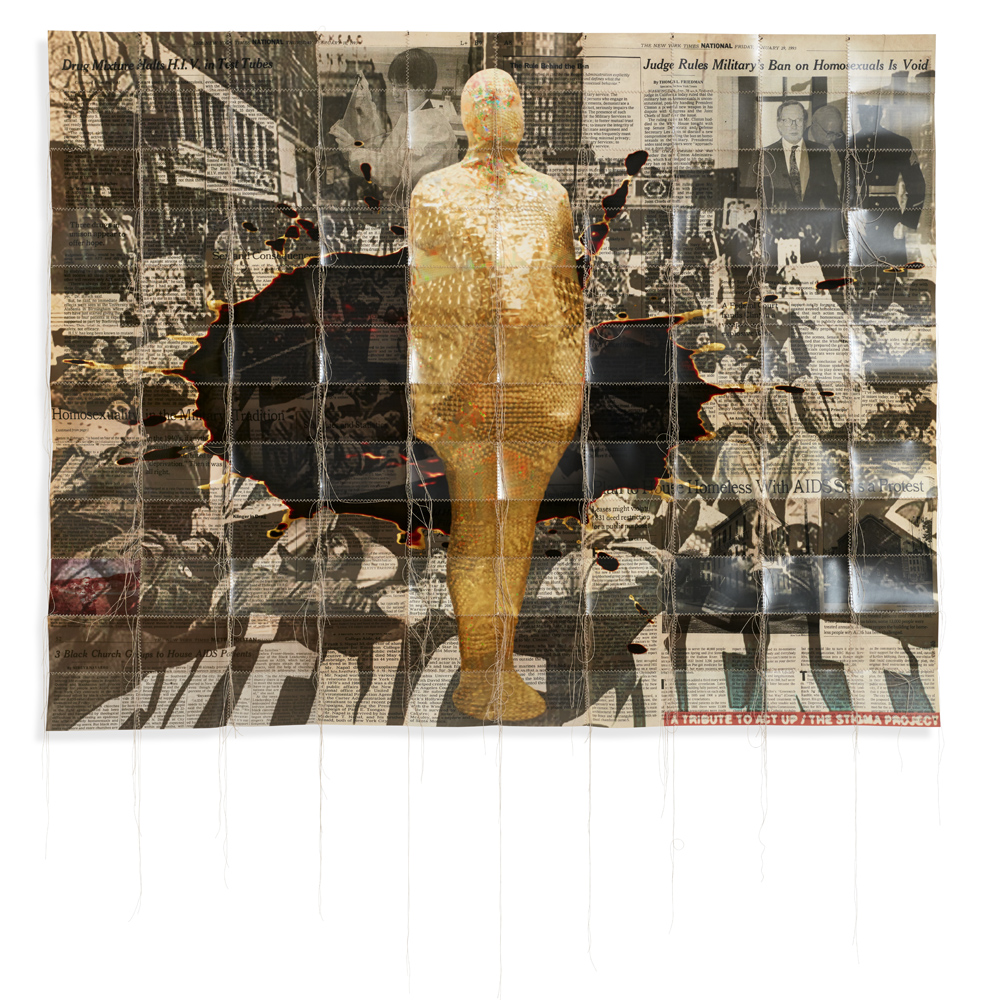 Hunter Reynolds   Revolution in the Age of AIDS  2015 Archival c-prints and thread 121,92 x 152,4 cm