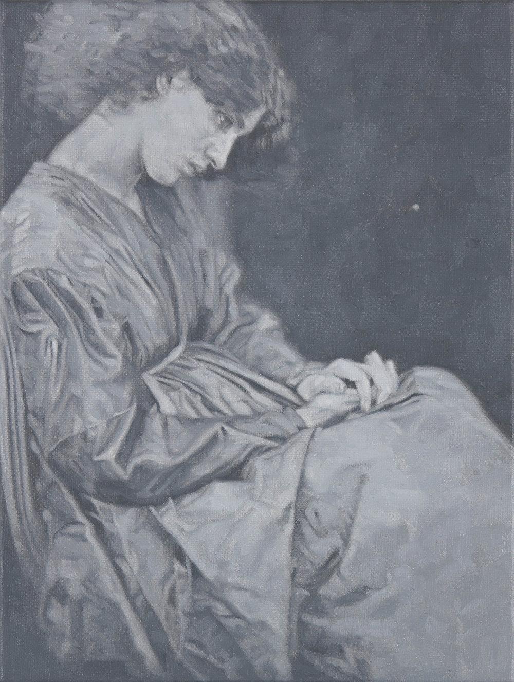 Tomas Lundgren   Model (5)  2016 Oil on canvas 21 x 28 cm