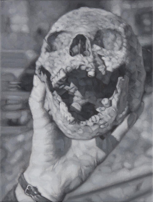 Tomas Lundgren   Skull (2)  2016 Oil on canvas 21 x 28 cm