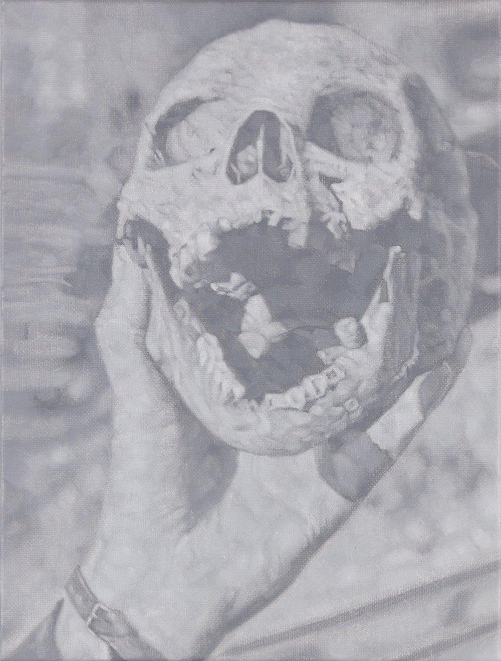 Tomas Lundgren   Skull (8)  2016 Oil on canvas 21 x 28 cm
