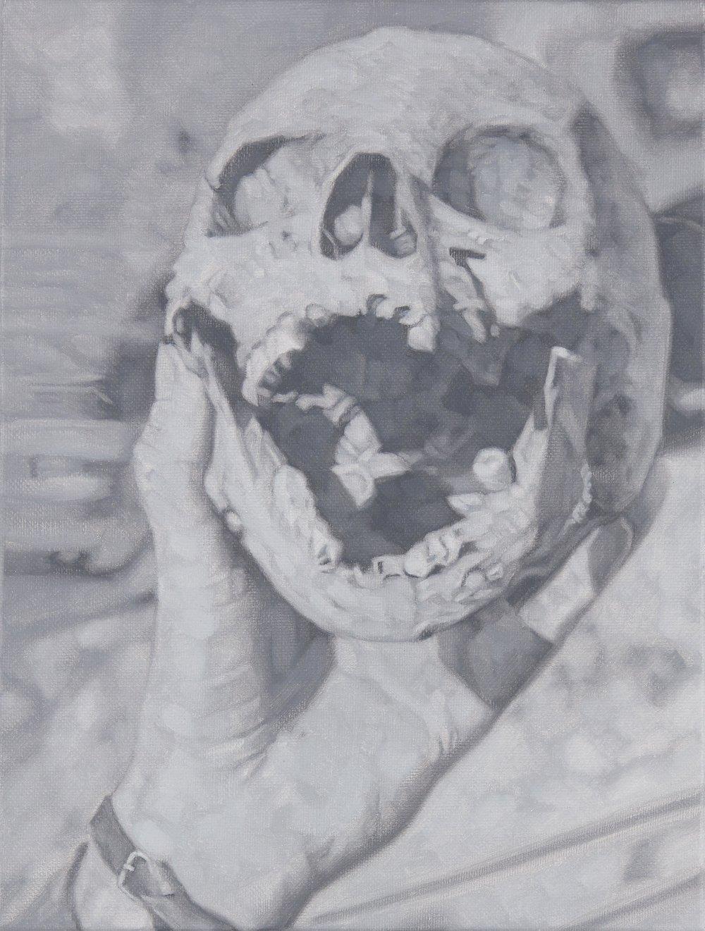 Tomas Lundgren   Skull (10)  2016 Oil on canvas 21 x 28 cm