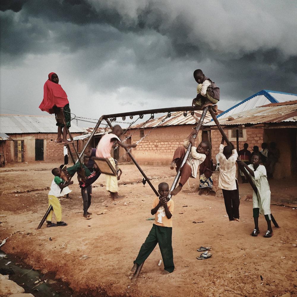 Malin Fezehai   Playground in Zaria, Nigeria  2015 C-print 40 x 40 cm