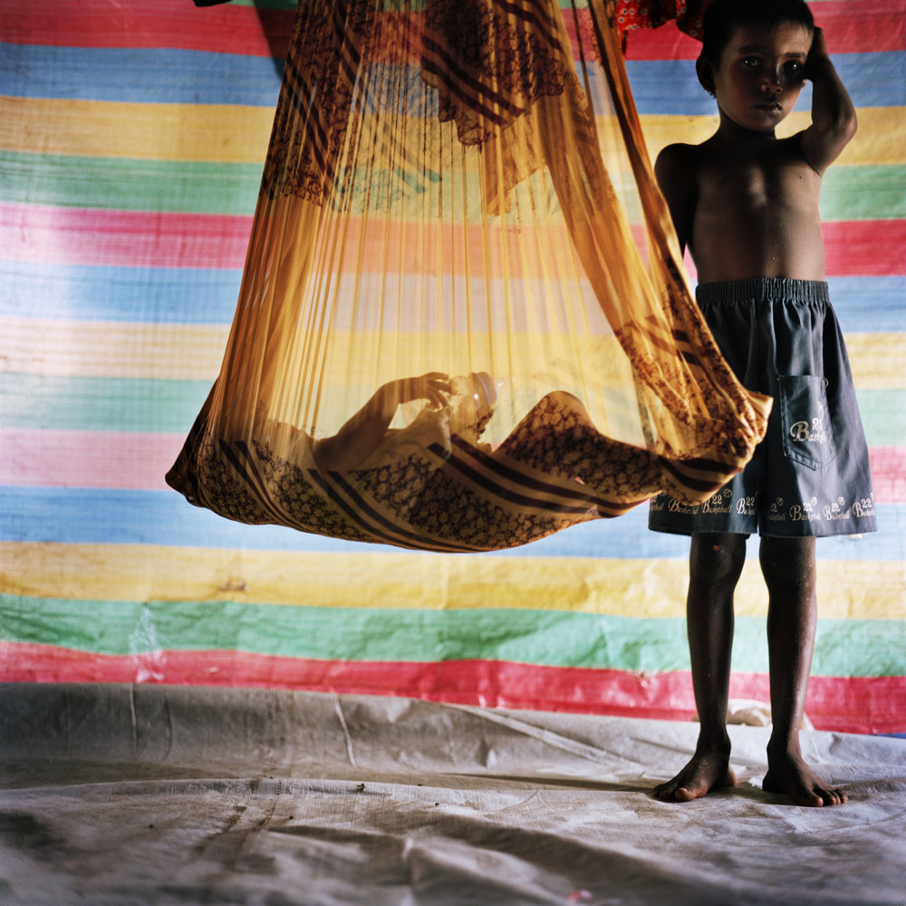 Malin Fezehai   Children in IDP camp, Batticaloa, Sri Lanka  2007 C-print 65 x 65 cm
