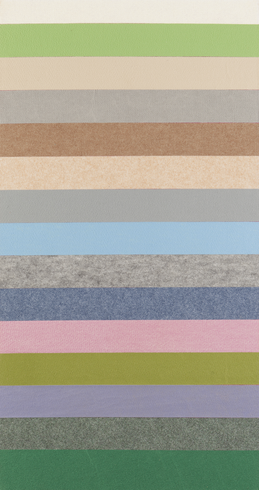 Gal Weinstein   Untitled  2016 Wall-to-wall carpet on plywood 150 x 80 cm