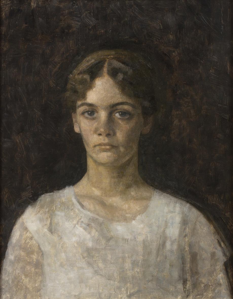Vilhelm Hammershöi   Porträtt av fröken Else Aagesen  1913 Oil on canvas 63 x 50 cm
