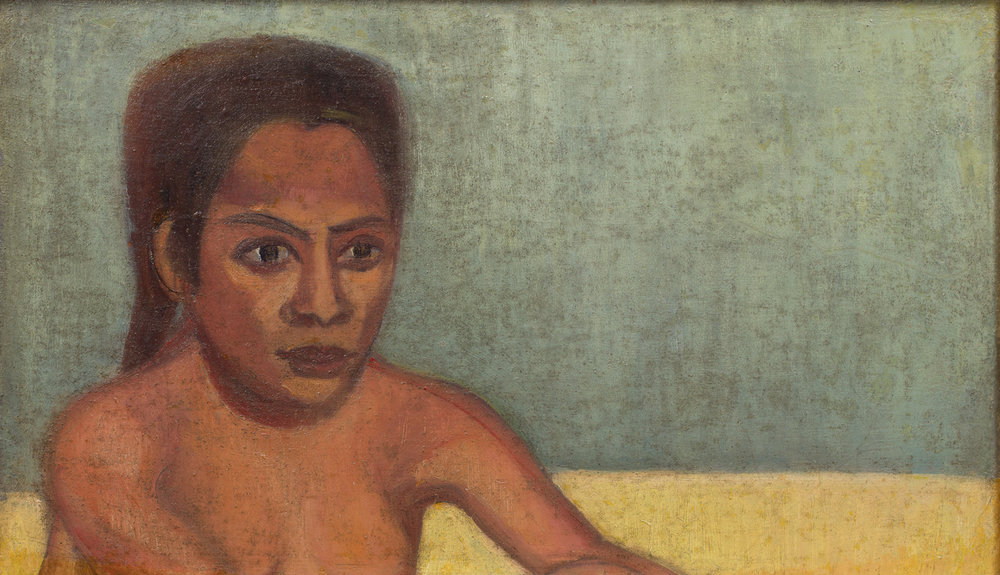 Ivan Aguéli   Egyptisk flicka  Oil on canvas 3 x 57 cm