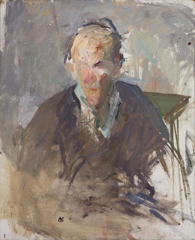 Olle Skagerfors   Självporträtt II  1965 Oil on canvas 82 x 67 cm