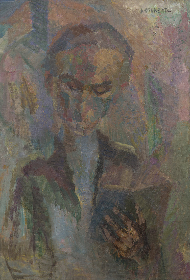 Siri Derkert   Läsande  1930 Oil on canvas 68 x 47 cm