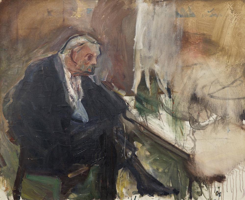 Olle Skagerfors   På ölcaféet  1971 Oil on canvas 90 x 110 cm