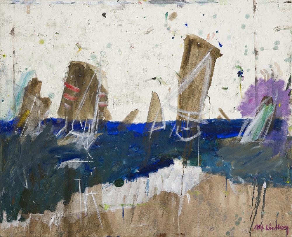 Alf Lindberg   Havet  1987–88 Oil on canvas 103 x 127 cm