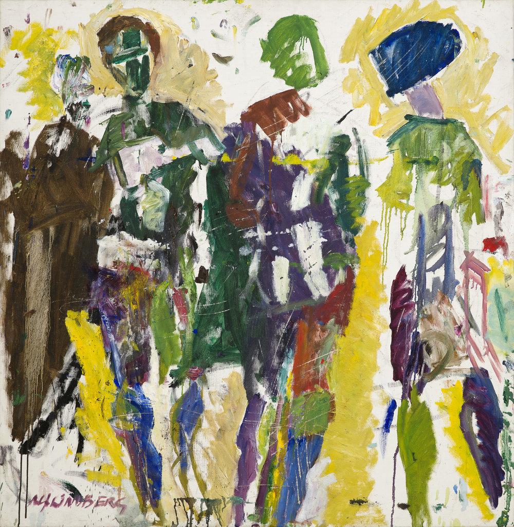 Alf Lindberg   Arkadiskt  1981 Oil on canvas  116 x 112 cm