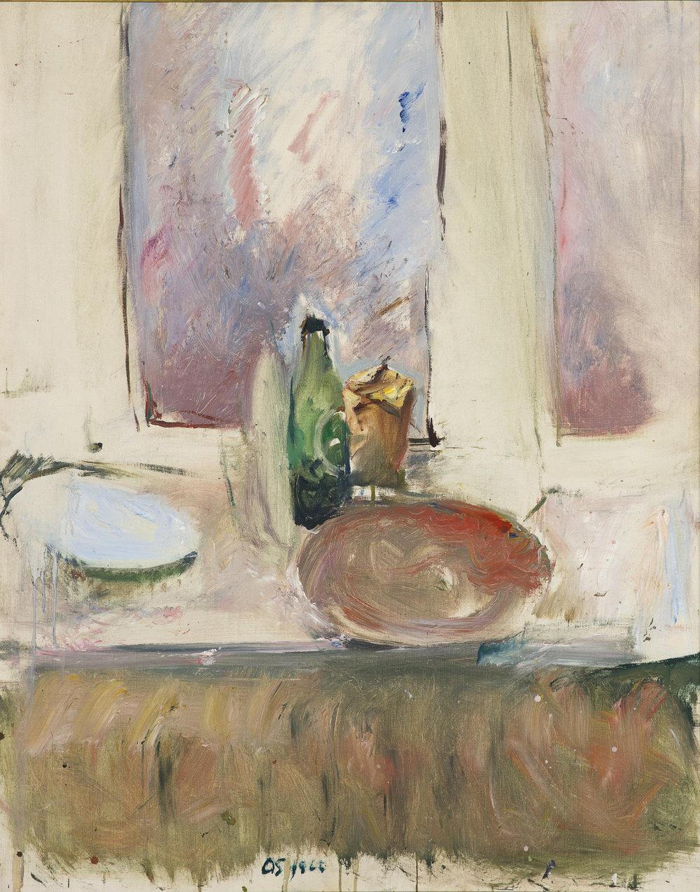 Olle Skagerfors   Fönster i ateljén  1966 Oil on canvas 112 x 88,5 cm