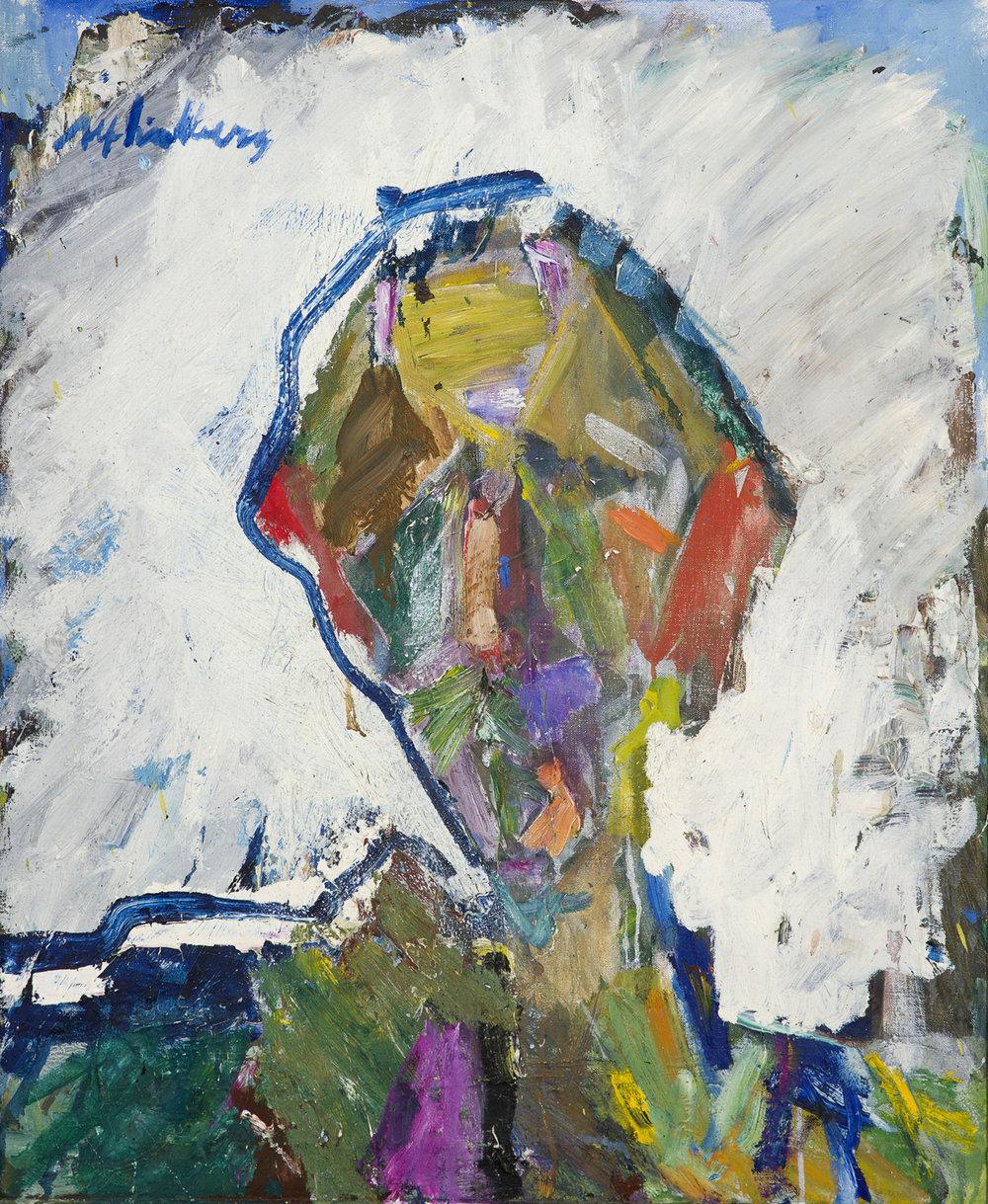 Alf Lindberg   Självporträtt  Oil on canvas 74 x 60 cm