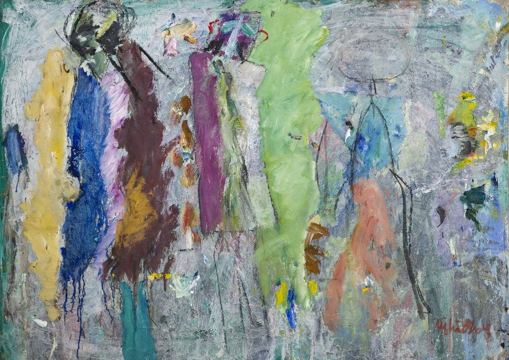 Alf Lindberg   Pärlemor  1987 Oil on canvas 105 x 141 cm