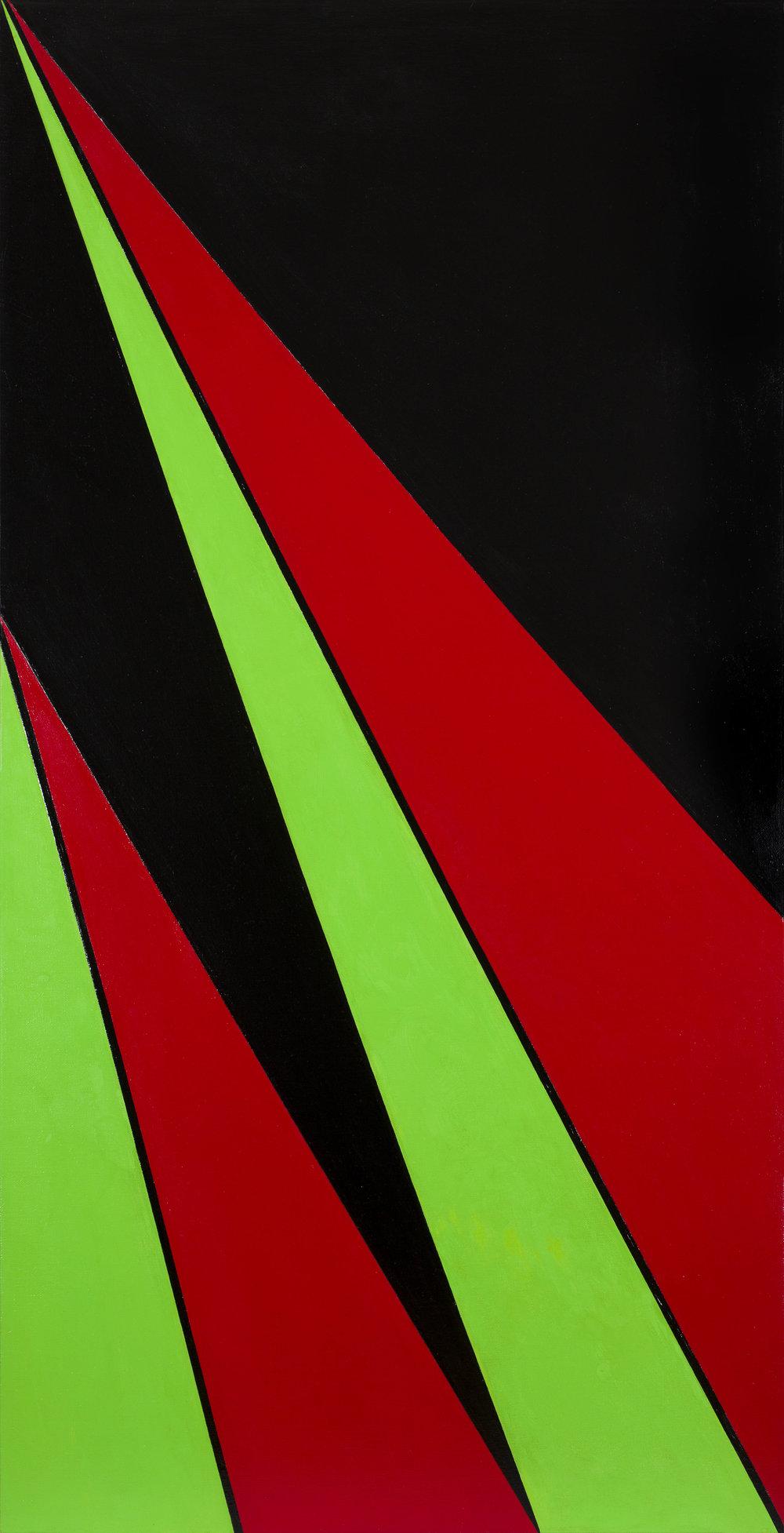 Olle Baertling   Aguiba  1958 Olja på duk 180 x 92 cm