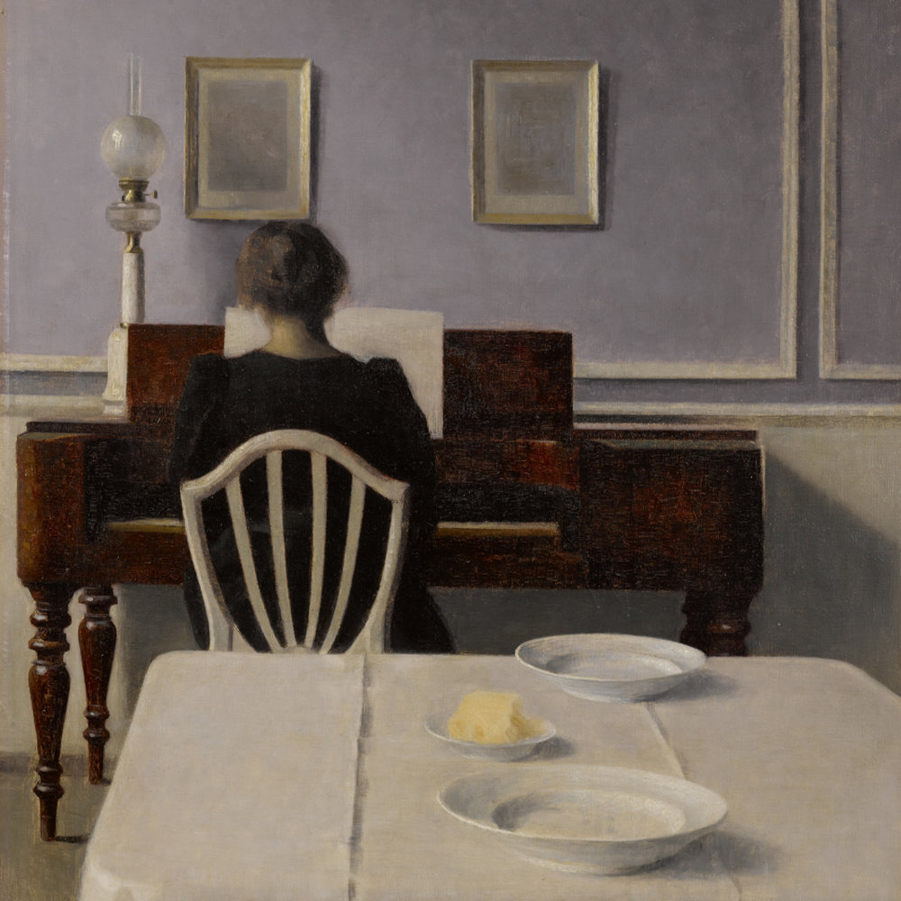 Vilhelm Hammershöi, Interior With Woman at Piano, Strandgade 30, 1901