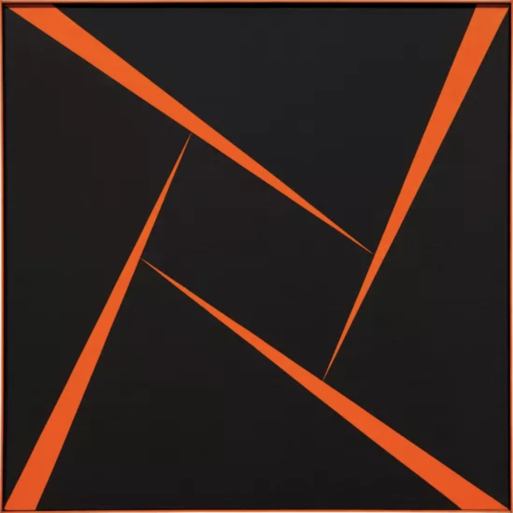 Record breaking: Carmen Herrera, Untitled (Orange and Black), 1956