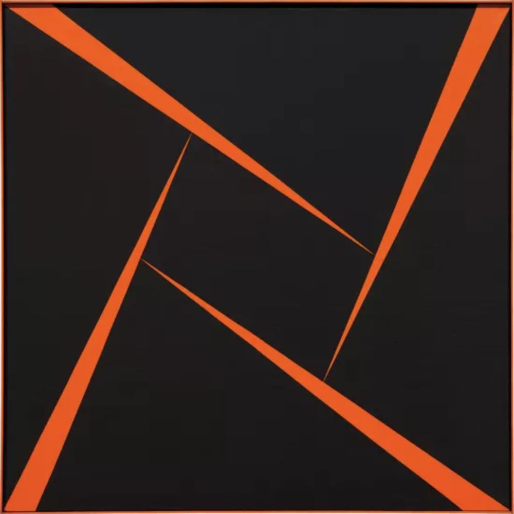 Record breaking: Carmen Herrera, Untitled (Orange and Black), 1956