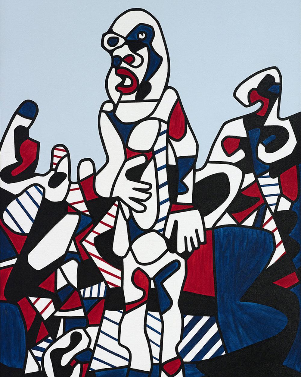 Helly Nahmad Gallery: Jean Dubuffet, Promenade Agreste, 1974