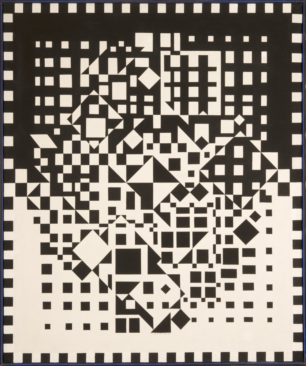 Victor Vasarely   IMPH Y  1956–57 Signed and dated 1956–57 Oil on canvas 120 x 100 cm