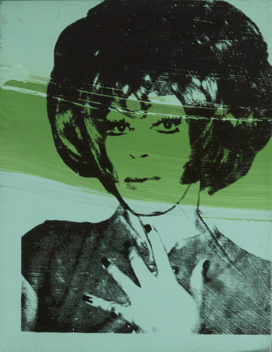 "Andy Warhol   Helen/Harry Morales for ""Ladies & Gentlemen""  1975 Acrylic and screen print on canvas 36 x 27,4 cm"