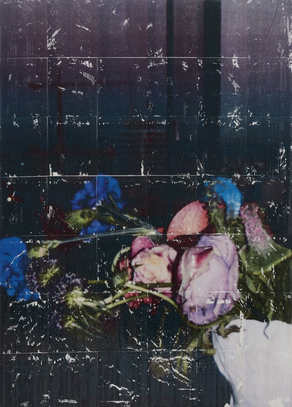 Parker Ito   Capitol Records Shit Toots (roses and carnations)  2016-17 Acrylic, toner and gloss varnish on linen 117 x 162,5 x 2,5 cm