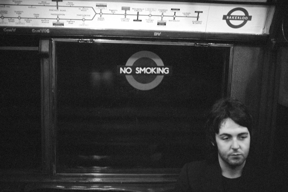 Linda McCartney. Paul on the Tube, London, 1969. Fibre Based Silver Gelatin. Edition of 6 and 2 APs