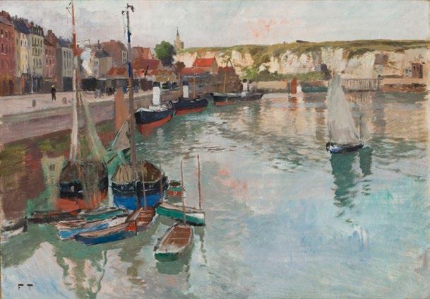 Frits Thaulow   Hamnen i Dieppe  Cirka 1894 Olja på duk 65 x 92,5 cm