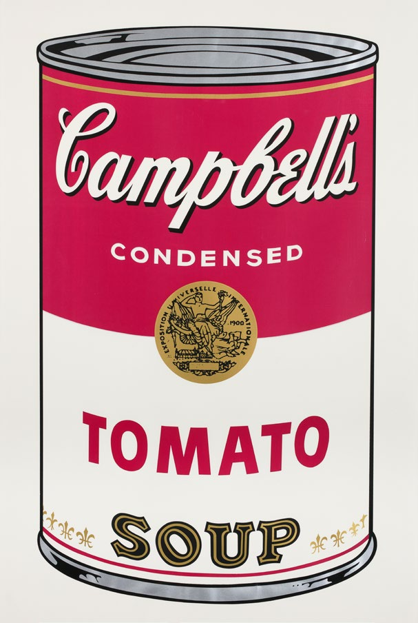 Andy Wahol   Tomato Soup, ur: Campbell's Soup I  1968 Upplagan 250 + 26AP Bladstorlek 88,9 x 58,4 cm
