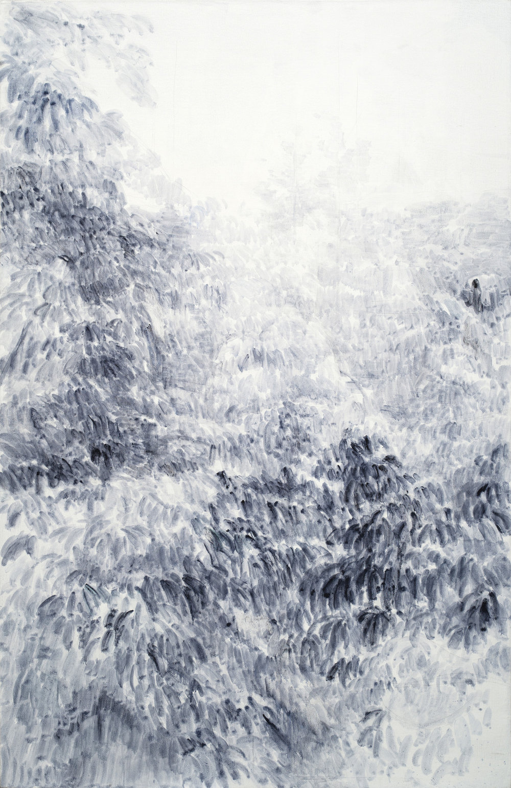 Shi Zhiying   Tree , 2016 Oil on canvas 200 x 130 cm