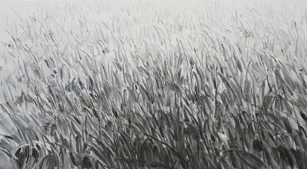 Shi Zhiying   Grass , 2018 Oil on canvas 110 x 200 cm