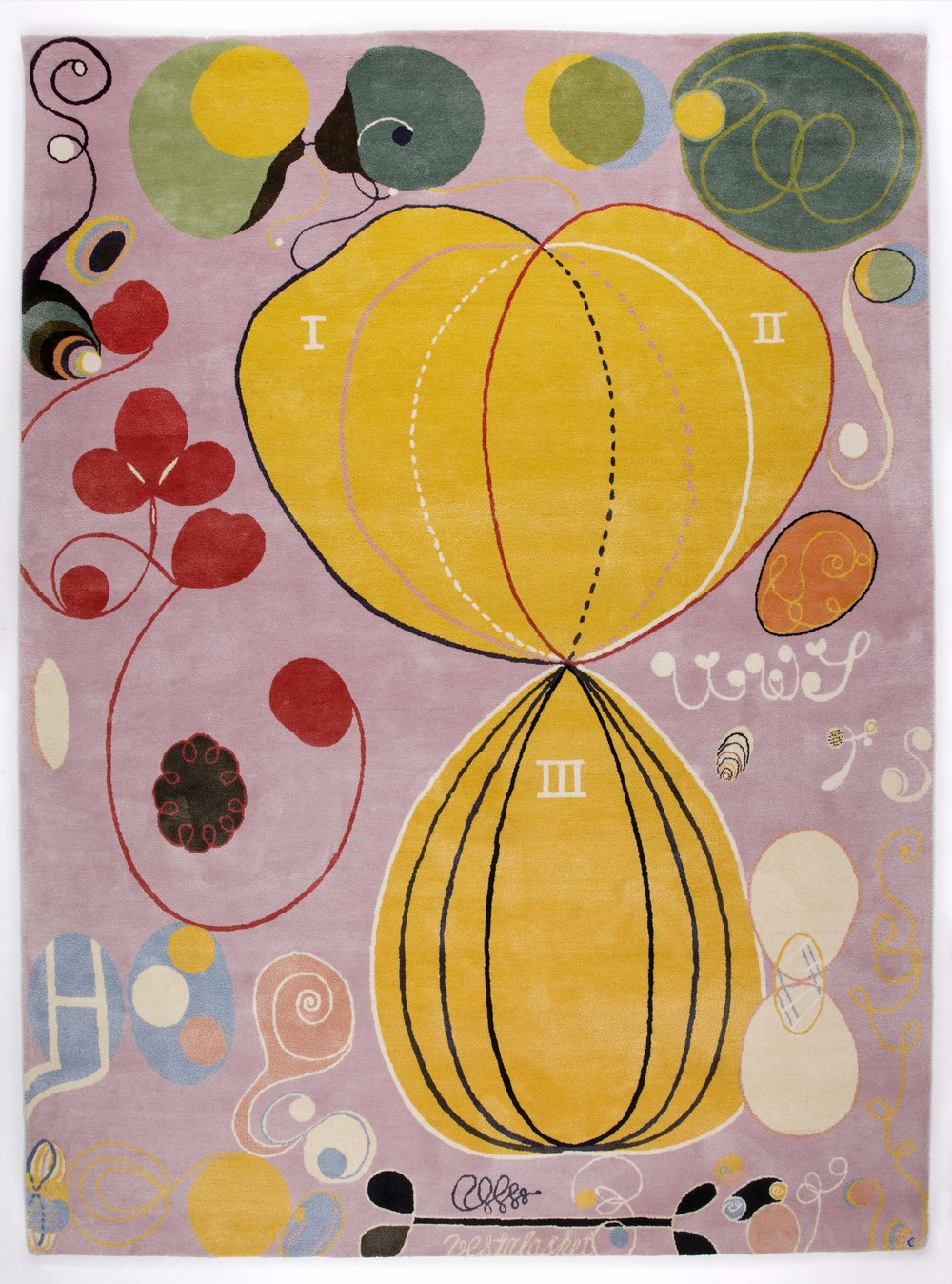 Hilma af Klint   Group IV, no 7. The Ten Largest, Adulthood  315 x 235 cm Edition 10 75% New Zealand wool, 25% silk Handknotted
