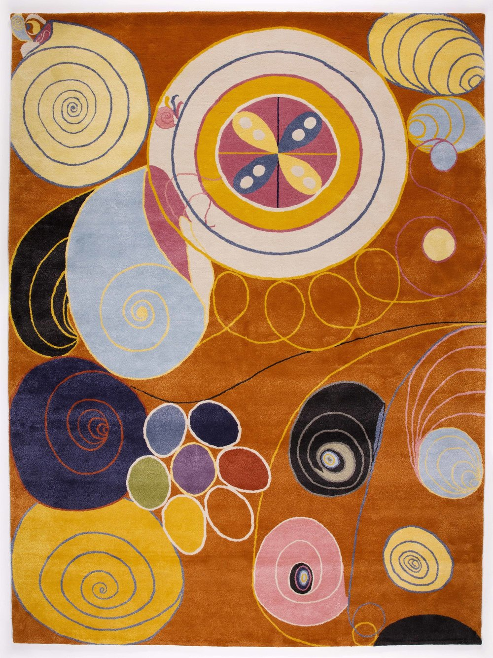 Hilma af Klint   Group IV, no 3. The Ten Largest, Youth  321 x 240 cm Edition 10 75% New Zealand wool, 25% silk Handknotted
