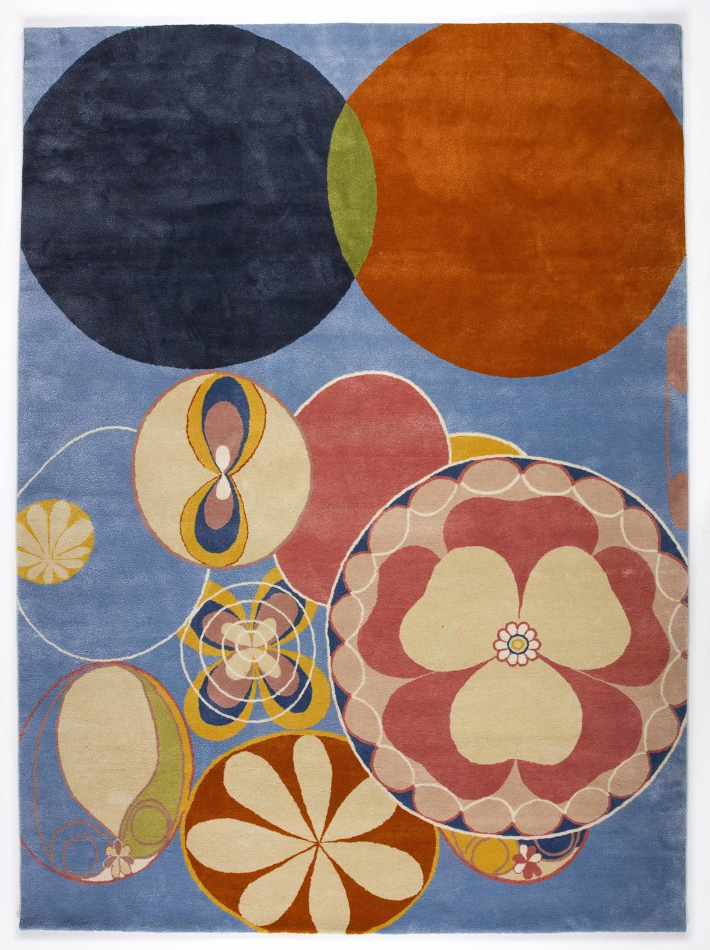 Hilma af Klint   Group IV, no 2. The Ten Largest, Youth  234 x 315 cm Edition 10 75% New Zealand wool, 25% silk Handknotted