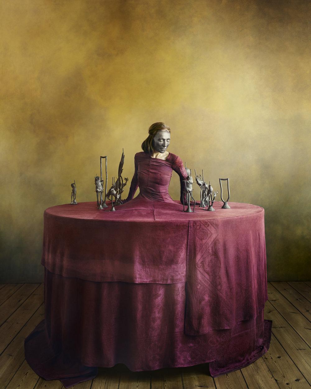 Denise Grünstein   Renaissance Red, 2018  C-Print  150 x 120 cm Edition 3 + 2 AP  56 x 45 cm Edition 6 + 2 AP