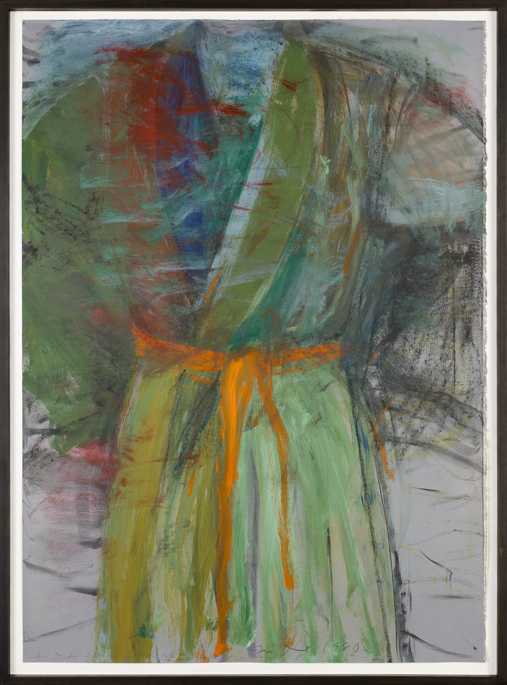 Jim Dine   Untitled (Robe)  1980 Oil and pastel on paper 124 x 89 cm