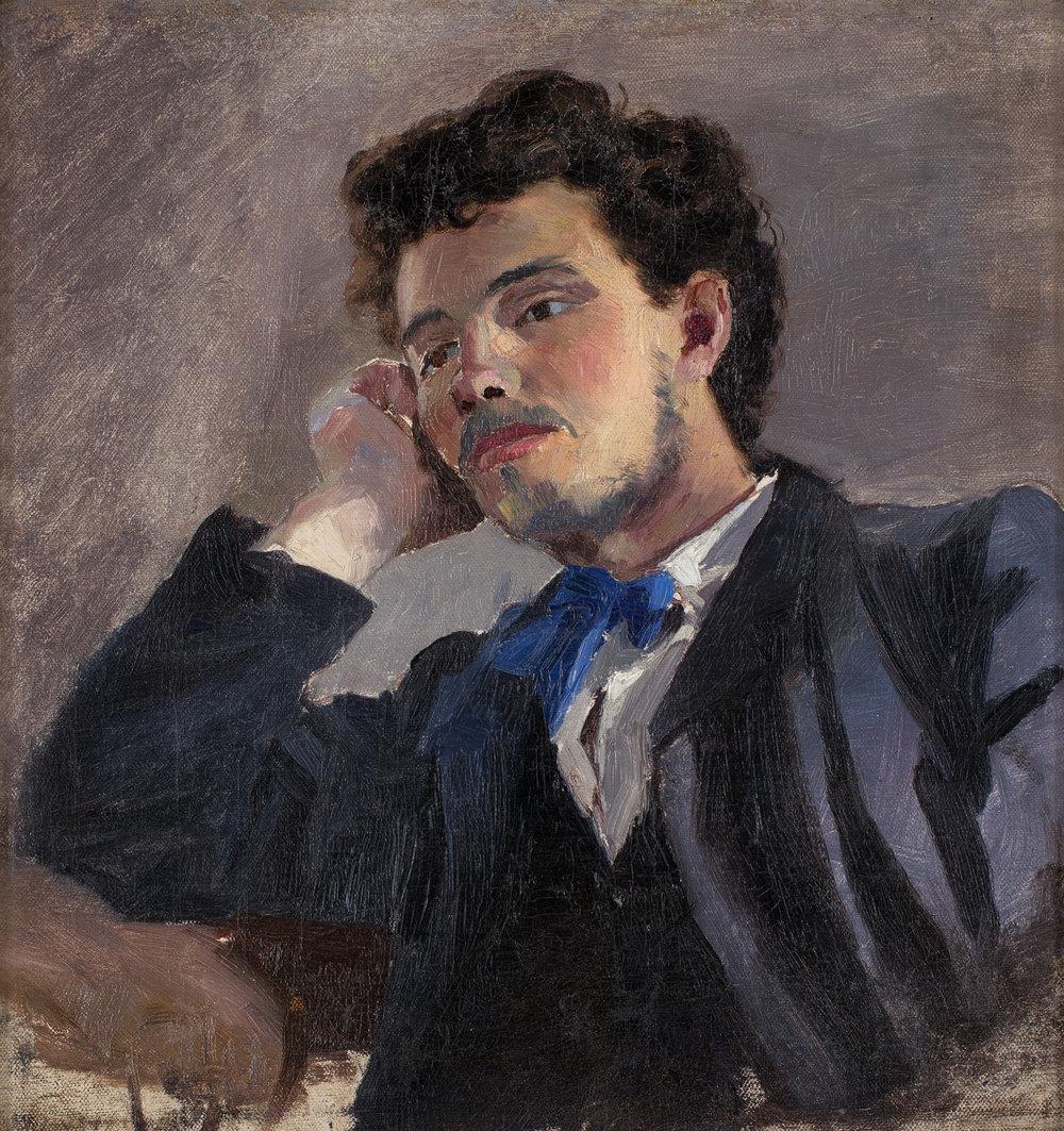 Ernst Josephson   Porträtt av Jacob Hägg ('Portraits of Jacob Hägg')  1874–75 Oil on canvas 39 x 39 cm